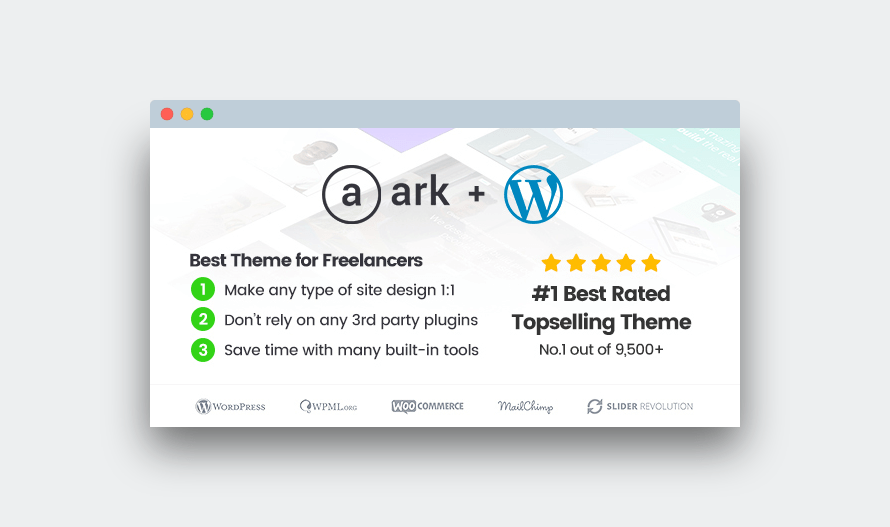 The Ark: tema de wordpress multiusos