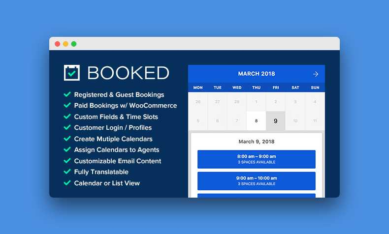 Booked 2 2 1 Appointment Booking Plugin For WordPress FREE
