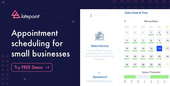 LatePoint Appointment Booking & Reservation Plugin v3.1.2