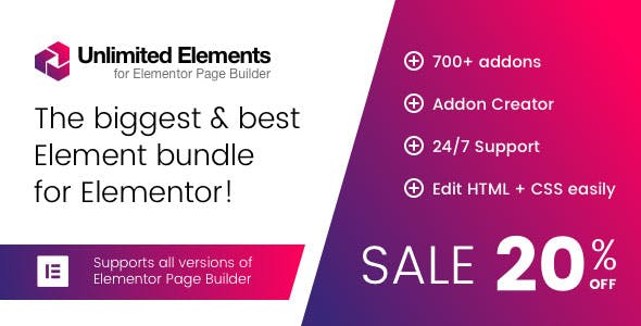 Unlimited Elements for Elementor Page Builder Plugin v1.4.43